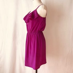Amanda Uprichard Dresses - Amanda Uprichard Ruffle Silk Spaghetti Mini Dress